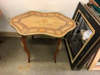 Antique French Marquetry Top inlaid side accent coffee table Toronto, M2R 3N1