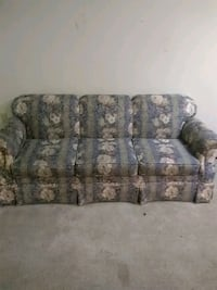 gray and brown floral fabric 3-seat sofa 184 mi