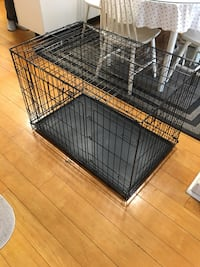 Large black metal folding dog crate/ cage Toronto, M6P 2K4