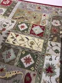 White, red, and green floral area rug Morris Plains, 07950
