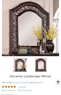 Custom carved mahogany Mirror with metal accents Port Coquitlam, V3E 3G7