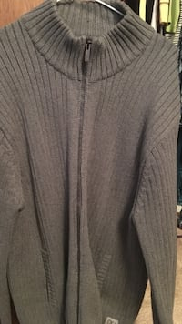 gray knitted zip up sweater Kamloops, V2B 6S3