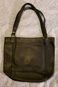 brown and black leather tote bag Arlington, 22207