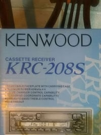 black and white kenwood cassette receiver krc-208s Clinton, 20735