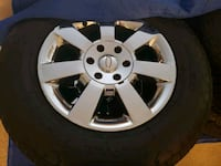 Chrome 6 spoke car wheel with tire set. Alexandria, 22312