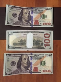 Wallets $100 dollar bill canvas wallets for sale. Great gift birthday, anniversary, Christmas Denver, 80220