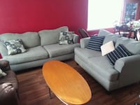 Sofa, love seat and coffee table all in good use   Houston, 77086