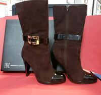 I.N.C. DARK COCO MID-CALF BOOTS WITH GOLD BUCKLE  Guadalupe, 93434
