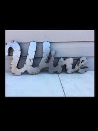 WINE Soldered Metal Wall Sign Letters  Wellsville, 17365