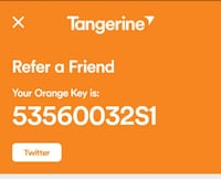 Free 50 dollars provided by tangerine Brampton, L6R 2A4