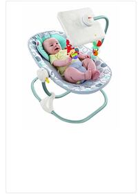 Toddler's teal, white, and red bouncer seat with crib mobile Greenwood Village, 80111