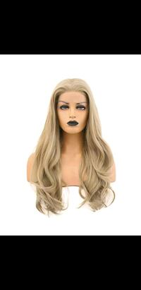 Blonde lace front new wig Japanese fiber