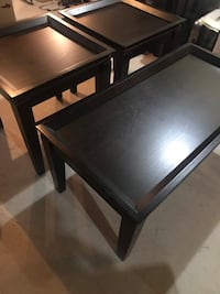 Black coffee table with 2 side tables Milton, L9T