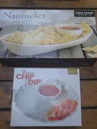 Chip and dip dishes still in boxes