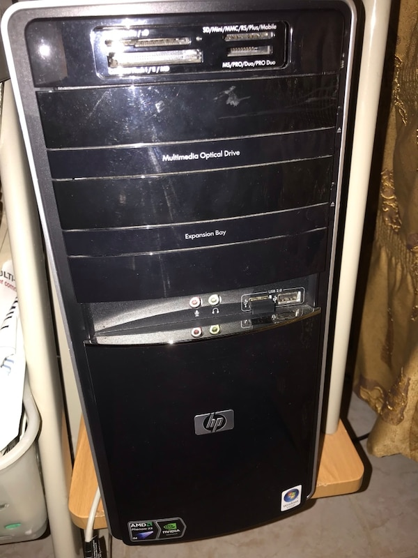 Black and gray computer tower