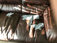 black leather 3-seat sofa Inwood, 25428
