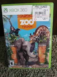 Zoo Tycoon Xbox 360 game case
