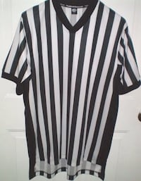Referees Short Sleeve V Neck Jersey by Officials Choice Size Medium