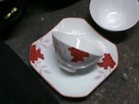 white and red floral ceramic bowl Vallejo, 94590