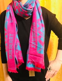 Burberry scarf in pink and baby blue shade Saskatoon