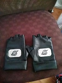 Pair of Naruto Hidden Leaf village Leather Gloves Hampton, 23669