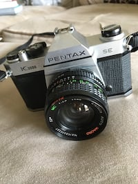 Pentax K1000 SE and Polaroid cameras w/case and accessories Naugatuck, 06770