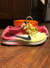 NIKE - racing flyknit womens shoes green pink size:8.5 women's  Silver Spring, 20904
