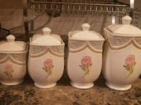 white ceramic floral ceramic tea set Toronto, M3J 1K7