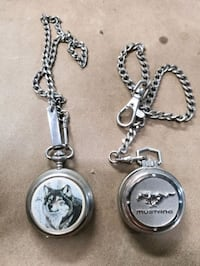 Mustang & Wolf pocket watch's