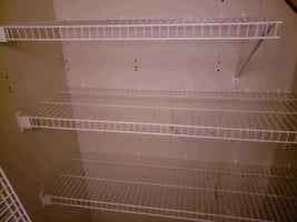 7 Linen Wire Shelves in white for sale