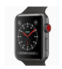 Black apple watch with black sports band Laval, H7G