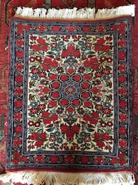 Antique Collectible Handmade Wool Persian rug 2x2FT