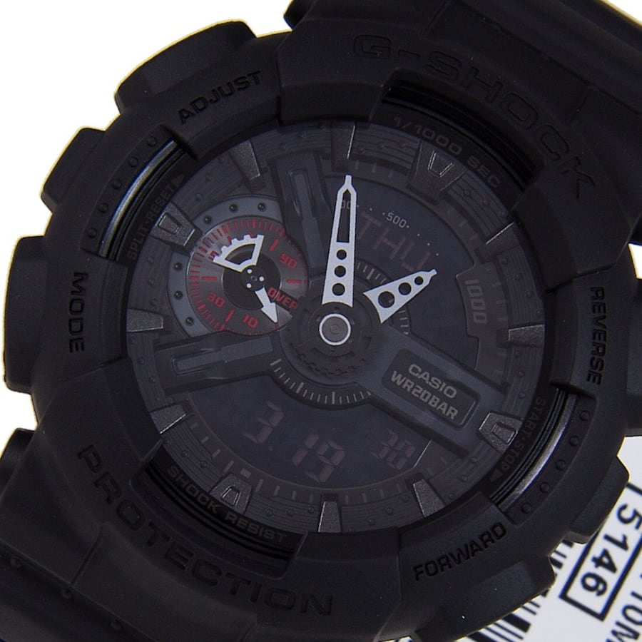 CASIO G-SHOCK military watch GA-110MB black with red accents 27899202-6703-4d17-8a45-179ff41df84c