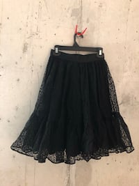 Cha cha can can skirt petticoat black lace size 26-30 waist