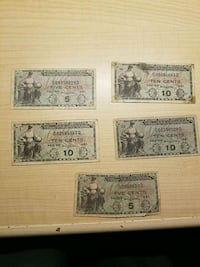Military Payment Certificates Lot of 5 South Riding, 20152