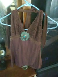 Brown embroidered halter &skirt Louisville, 40215