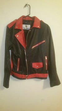 XS adult mens GENUINE LEATHER akira jacket