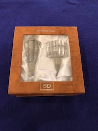 Two Crystal bottle stoppers like new never been used still in box from Simon Designs Calgary, T2M 2P2