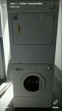 white front-load washer