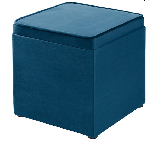 Sensational Blue 16 Ottoman Wz Tray Toy Box Gmtry Best Dining Table And Chair Ideas Images Gmtryco