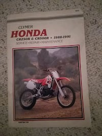 Honda motorcycle manual. (Clymer) CR250 and CR500,