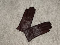 New Women's  Lined Burgundy Sheep Leather Sporty Gloves CALGARY