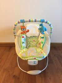 Baby's white and green bouncer Red House, 25168