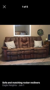 Ashley Sofa and two rocker recliners Las Vegas, 89131