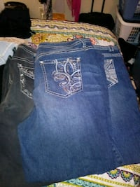 3 pairs size 22 Faded Glory jeans