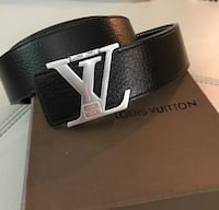 black and gray leather belt Bethesda, 20816