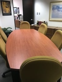 8' Boardroom Table & Chairs Markham