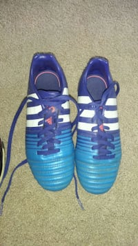 pair of blue-and-white adidas cleats Edmonton, T5Z 3M8