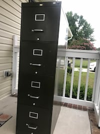 black metal 4-drawer filing cabinet Gaithersburg, 20879