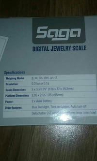 Digital Jewelry Scale    New Saugus, 01906
